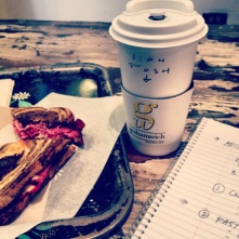 French press to go at Grahamwich, Chicago