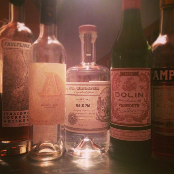 the perfect five bottle bar