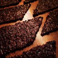 Black rice crackers