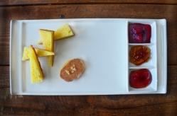 PB+J: brioche, foie gras, three homemade jams